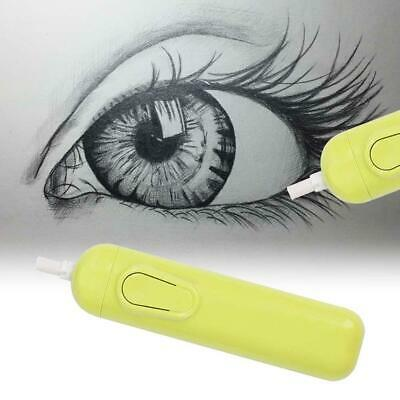 Handy Electric Erasers Kit Battery Operated + 20x Eraser Refills Office Green BN