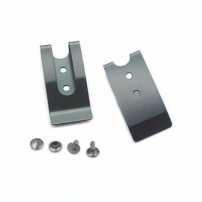 Metal 54x25mm Holster Sheath Belt Clip Clasp Spring Buckle Hook Double Holes
