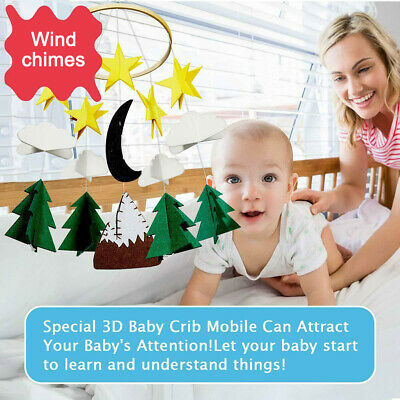 Baby Crib Mobile Crib Hanging Education Toy Infant Bed Decoration Starry Clouds
