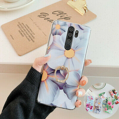 Flower Ring Kickstand IMD Soft Slim Case Cover For Xiaomi Redmi Note 8 7 6 5 Pro