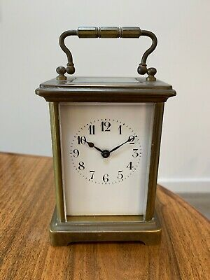 Antique French Carriage Clock Good Working order Cylinder Platform Escapement