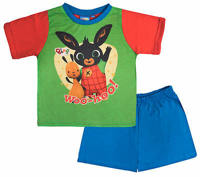 Bing Bunny Pyjamas Boys 2 Piece Pjs Set Short Sleeve Shortie Nightwear Kids Size