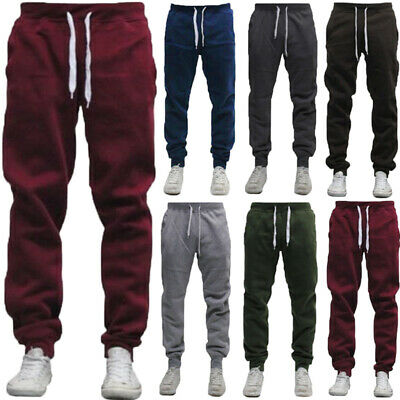 Men Casual Sport Long Pants Gym Slim Fit Trousers Joggers Gym Running Sweatpants