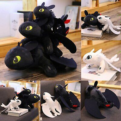 HOT How to Train Your Dragon Plush Toothless Night Fury Soft Toy Doll 25/40/60cm