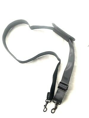 """Replacement Luggage Messenger Bag Leather Nylon Shoulder Strap Sling Gray 52"""""""