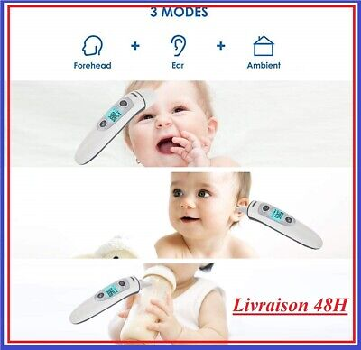 Bebe Thermometre Medical Numerique Infrarouge Frontal Oreille Enfant Famille