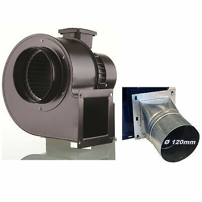 Industrial Centrifugal Blower Extractor Fan Fume + Adapter 125 mm