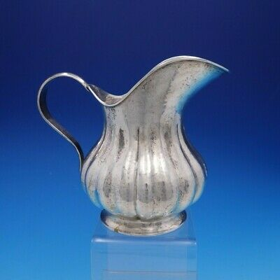 Battuto A Mano Vintage Italian 800 Silver Hand Hammered Water Pitcher (#4294)