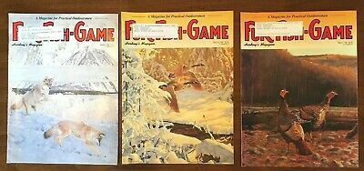3 VINTAGE 1997 HARDING'S FUR-FISH-GAME MAGAZINES January February March
