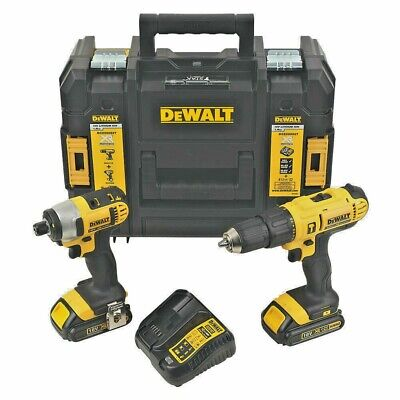 Combi Drill And Impact Driver Set With 18V Batteries & Charger Pack Carry Case