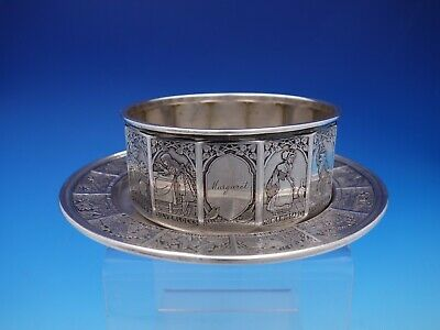 William Kerr Sterling Silver Nursery Rhyme Child's Plate and Bowl Set (#4378)