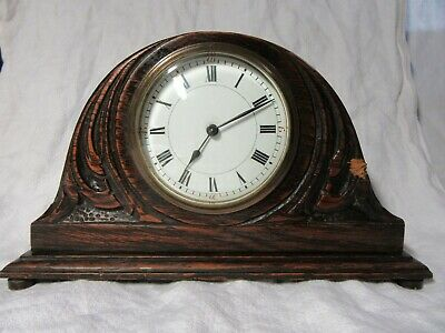 Vintage Carved Wooden MANTEL CLOCK French Movement - Working Condition