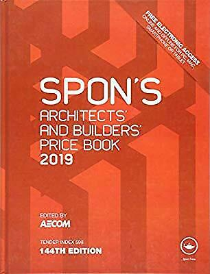 Spon's Book Architects and Builders Price Book 2019 DIGITAL FORMAT