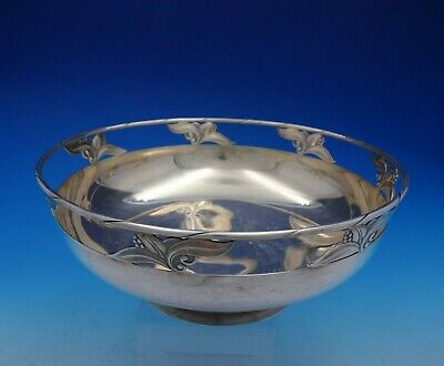 Woodlily by Frank Smith Sterling Silver Vintage Centerpiece Bowl (#4382)