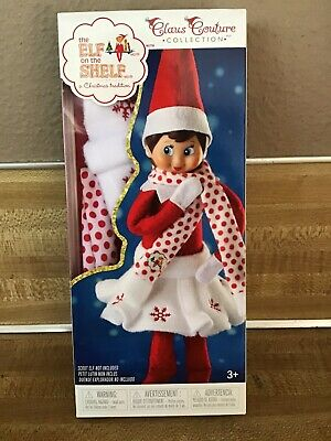 New The Elf On The Shelf Claus Collection Clothes*Girl's Snowflake Skirt & Scarf