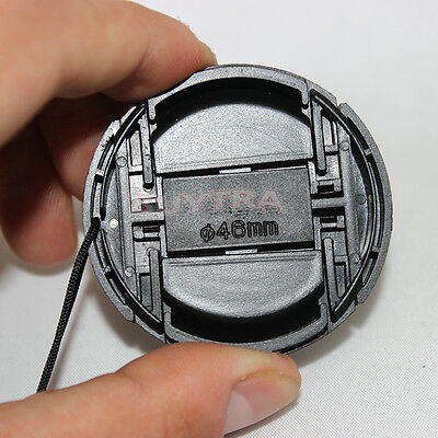 HU 46mm Center Pinch Snap on Front Cap Cover For Camera Lens Filter Plastic、X/_vi