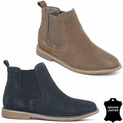 Boys Leather Boots NEW KIDS Desert Casual Smart Ankle Chelsea Dealer Boots Shoes