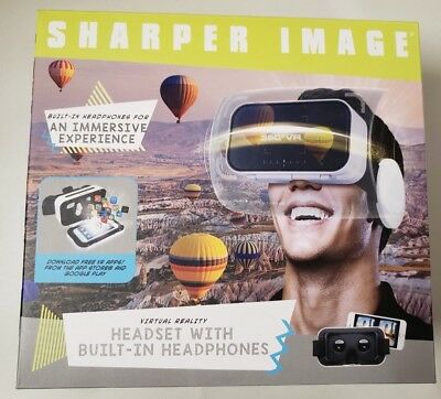 Sharper Image Virtual Reality VR Headset with built in headphones