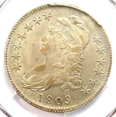 1809 Capped Bust Half Dollar 50C Coin O-102a - PCGS XF Details (EF) - Rare Date!