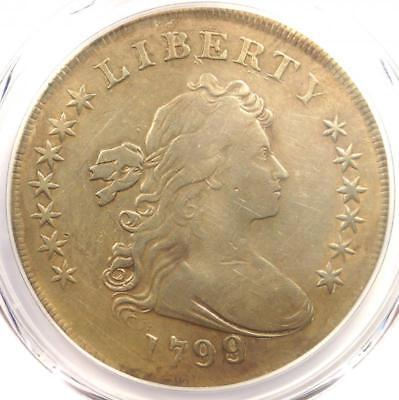 1799 Draped Bust Silver Dollar $1 Coin - Certified PCGS VF Detail - Rare!