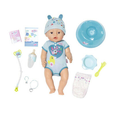Baby Born Kids 43cm Soft Touch Baby Boy Doll w/Bottle/Nappy/Pacifier Blue 3y+