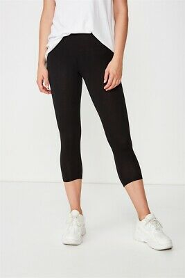 Cotton On Womens 3/4 Dylan Legging Jersey Bottoms  In  Black
