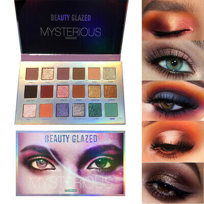 Beauty Glazed 18 Color Eye Shadow Palette Matte Pearlescent Eyeshadow Make up