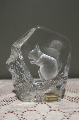 Mats Jonasson Signature Series Crystal Squirrel Sculpture / Figurine - Vgc