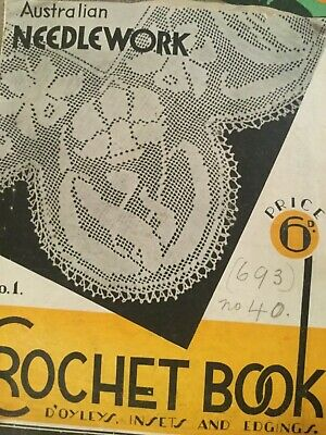 australian needlework no1 Crochet Book Patterns Antique fine lace
