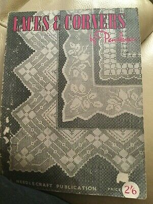 Laces & corners Penelope  Crochet Book Patterns Antique fine lace