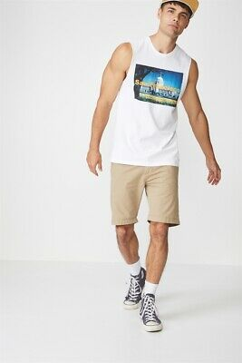Cotton On Tbar Muscle Tanks  In  White/San Francisco