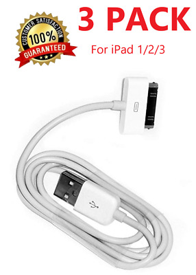3x 3Ft 30 Pin To USB Charge Sync Cable Charger for Apple iPad iPod Classic Nano