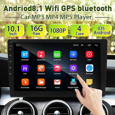 10 Inch Android 8.1 Car MP5 Player Wifi GPS bluetooth Stereo Radio 2 DIN Navi HD