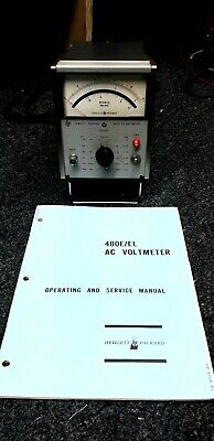 Hewlett Packard HP 400E AC Voltmeter Tested
