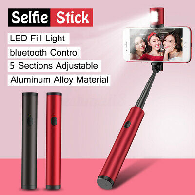 bluetooth Extendable Handheld Remote Selfie Stick Unipod For Samsung iPhone XR X