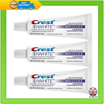 3 x Crest 3D White Brilliance Teeth Whitening Toothpaste