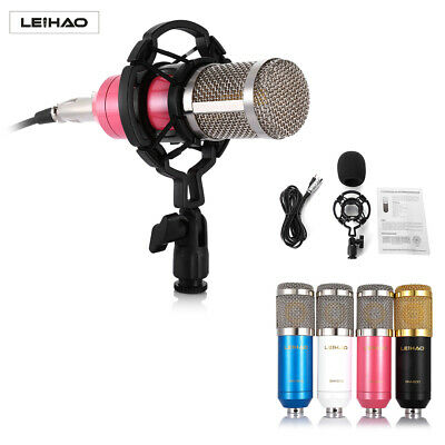 LEIHAO BM-800 Condenser Microphone Mic Kit&Mount For Live Studio Sound Recording
