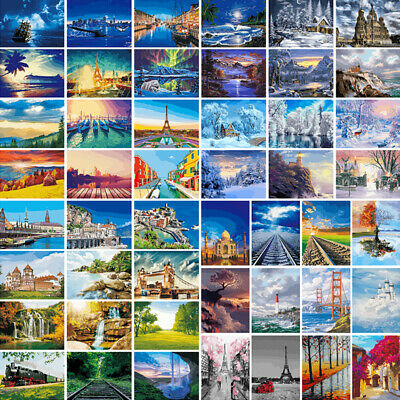 Scenery DIY Paint By Numbers Digital Kit Oil Painting Artwork Wall Home Decor