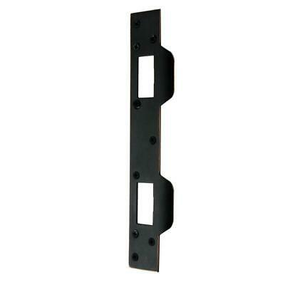 Door Latch Strike Plate Aged Bronze For Wood Or Metal Home Residential Security