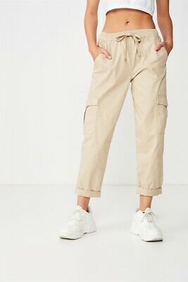 Cotton On Womens Rolled Hem Chino Casual Pants  In  Beige