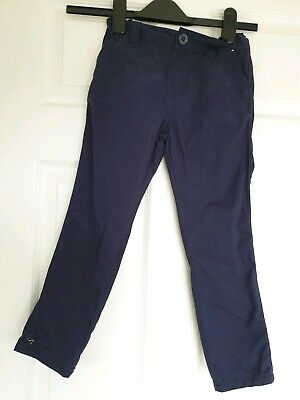 Great Condition Denim & Co Navy Slim Leg Trousers Age 4-5 Years