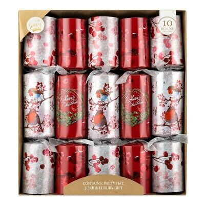 Luxury Christmas Crackers Large Family Deluxe Xmas Party Cracker Pack 14""