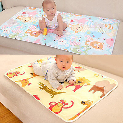 FT- Baby Infant Diaper Nappy Urine Mat Kid Waterproof Bedding Changing Cover Pad