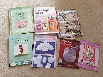 Bundle Lot Of Parchment Craft And Greetings Cards Books X 5 Plus Magazines