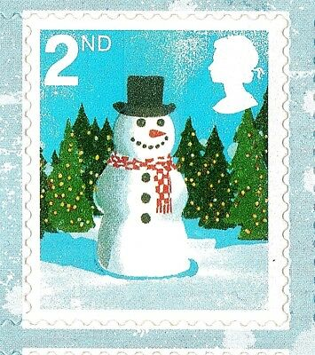 SNOWMAN & FATHER CHRISTMAS STAMPS - 10 x 1st  + 10 x 2nd CLASS STAMPS - UNUSED