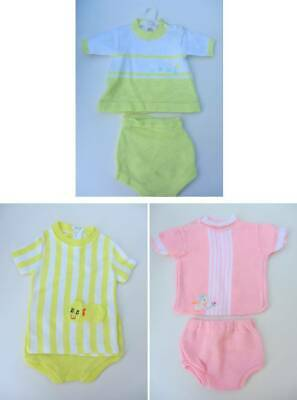 Baby vintage top and pants large doll 9 - 12 months pink or yellow