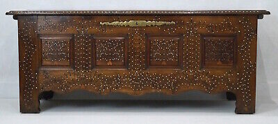 Fabulous Large Antique French Breton Studded Oak Coffer / Blanket Box / Chest