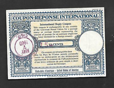 Coupon Reponse USA 1960 - Revalued 15 CENTS
