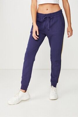 Cotton On Womens Adele Trackpant Jersey Bottoms  In  Purple