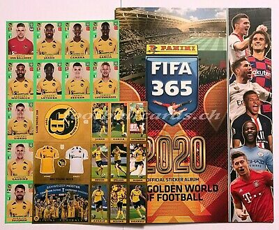 PANINI FIFA 365 2020 - Set YB Extra Stickers H1-H16 plus Album CH Edition -